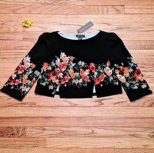 GRACIA crop top with floral elegence